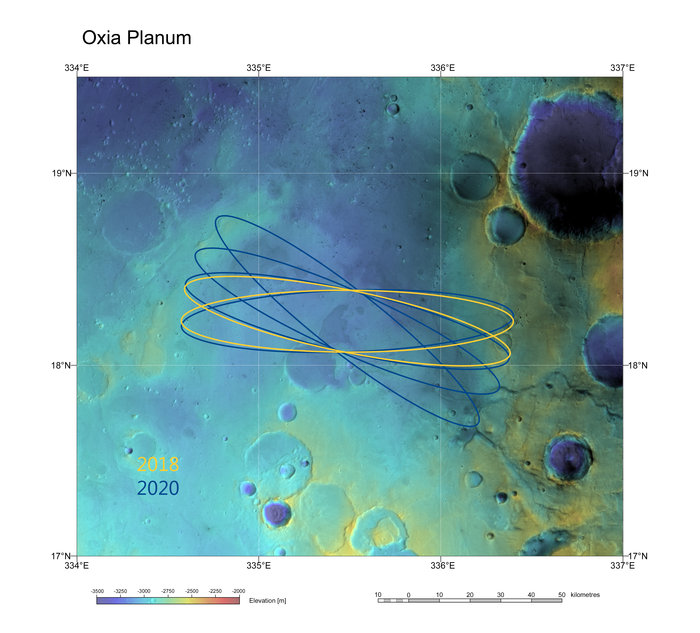 Oxia Planum has been recommended by the Landing Site Selection Working Group as the primary candidate for the landing site of the ExoMars 2018 mission.