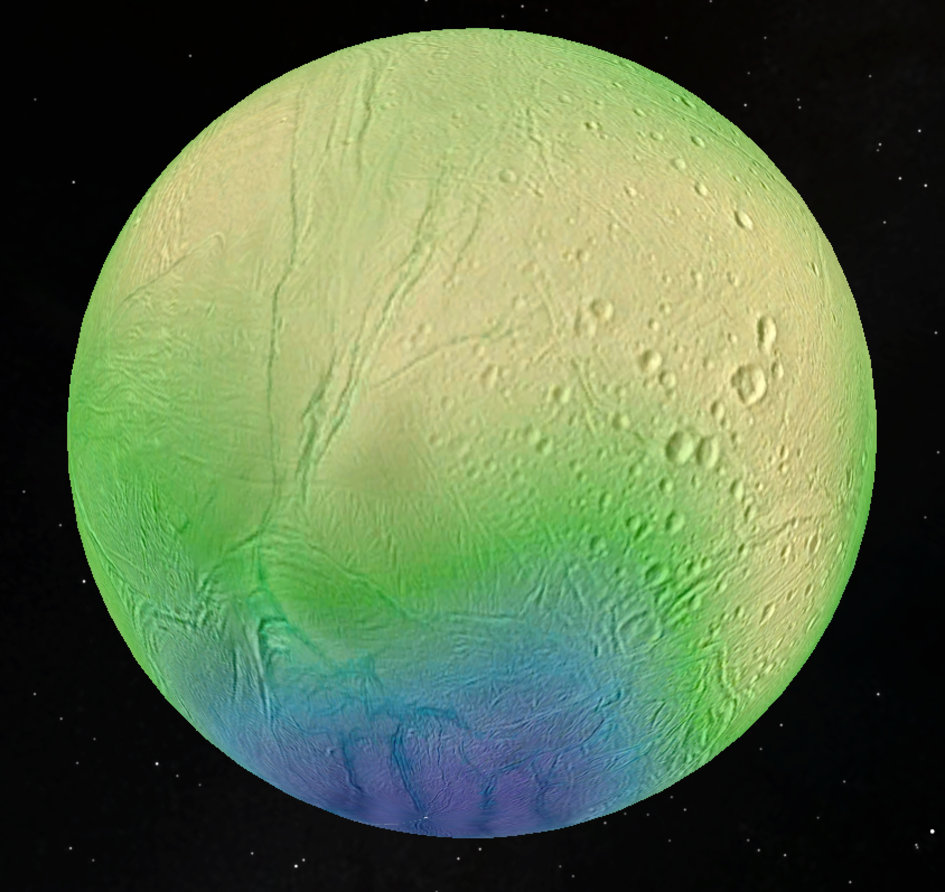 Enceladus and its paper-thin crust