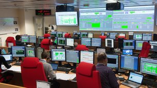 The joint ESA/CNES mission control team works, alternately, from here and from ESOC, in Darmstadt, Germany, to oversee the critical launch and early orbit phase flight control of Galileo satellites.