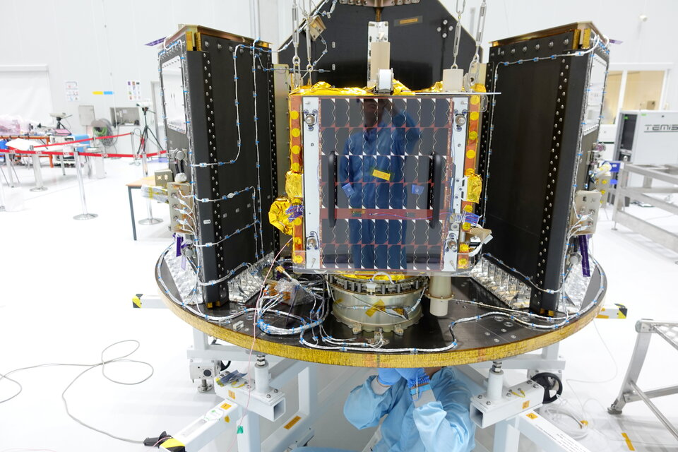 ESAIL microsatellite mounted