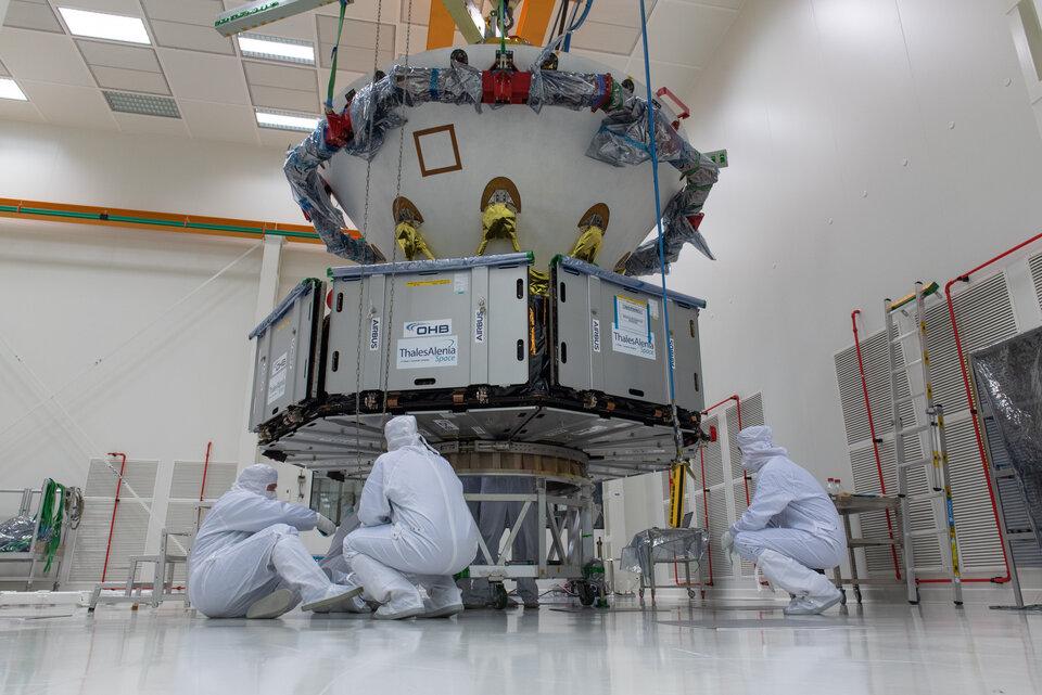 Módulo transportador da ExoMars e plataforma de superfície