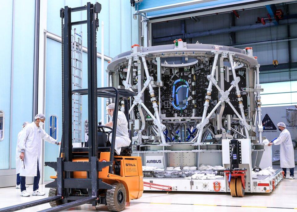 European Service Module-3 structure arrives in Bremen