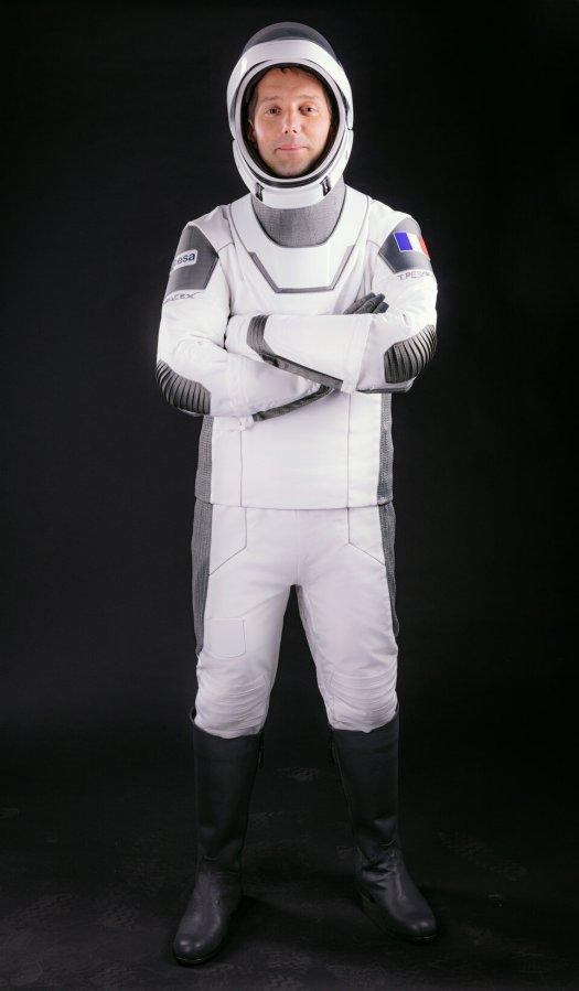 Thomas Pesquet in SpaceX flight suit