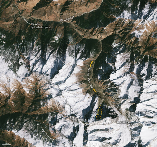 Chamoli disaster from space