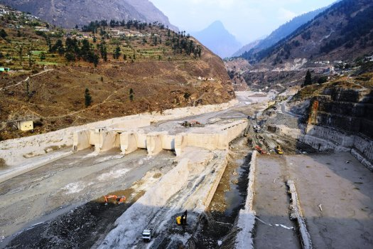 Destroyed Tapovan Vishnugad hydroelectric plant