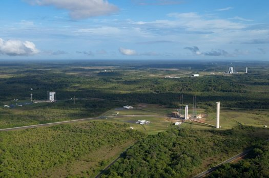 Vega, Ariane 5 and Ariane 6 launch zones at Europe's Spaceport