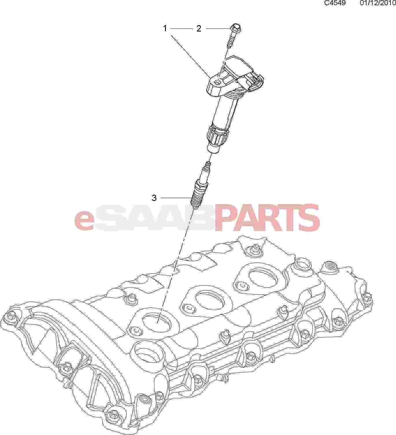 Saab Ignition Coil 9 5ng Aero Amp 9 4x