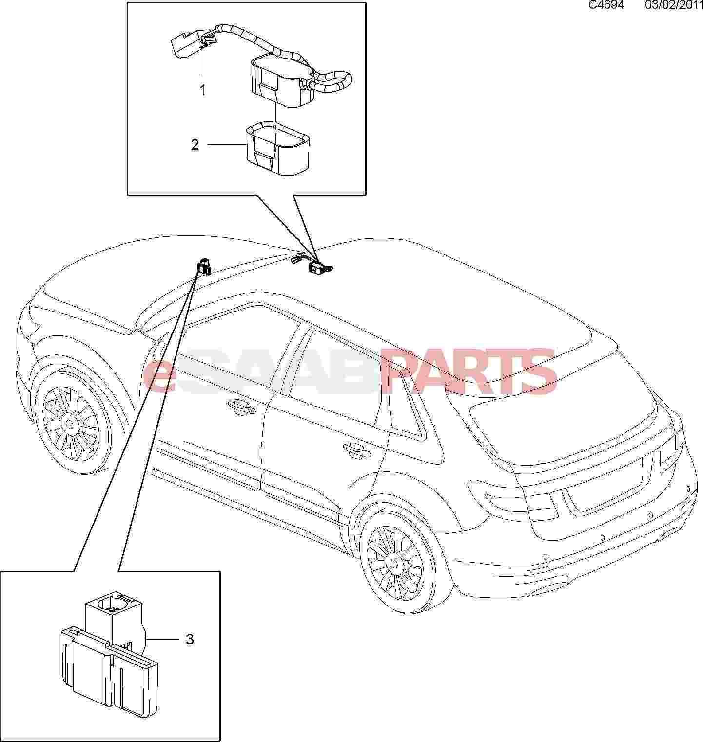 Saab Bluetooth Wireless Communication Antenna