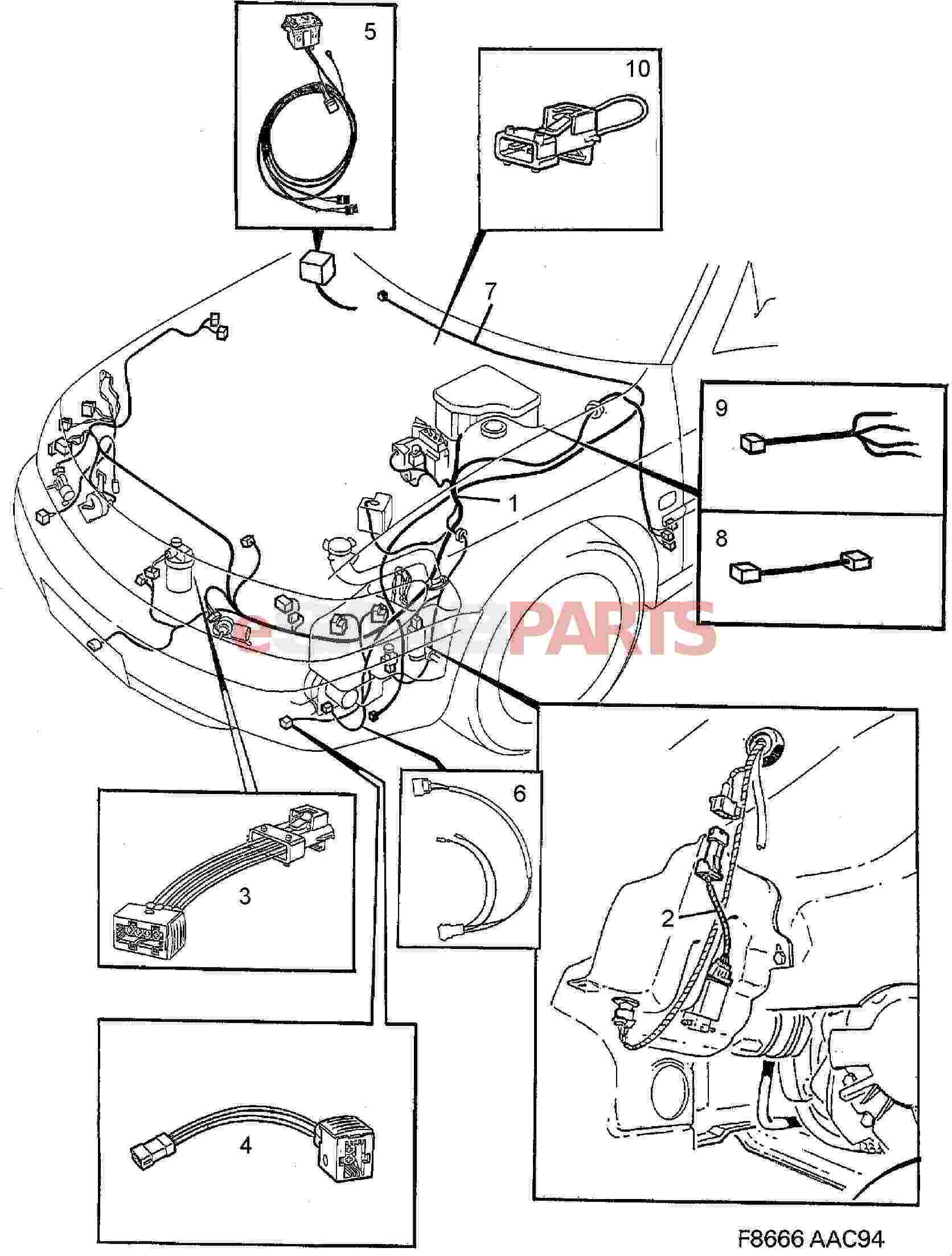 Saab Cable Harness