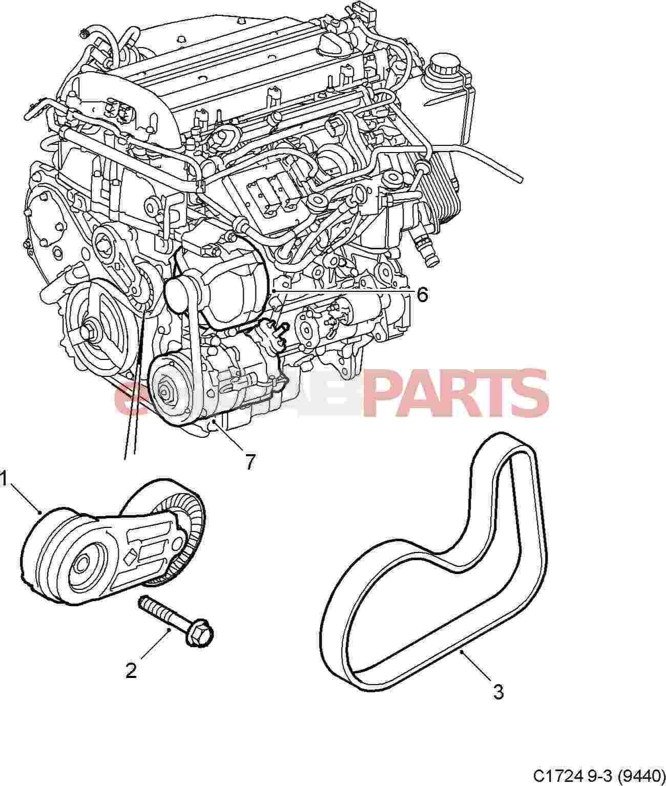Saab Serpentine Belt