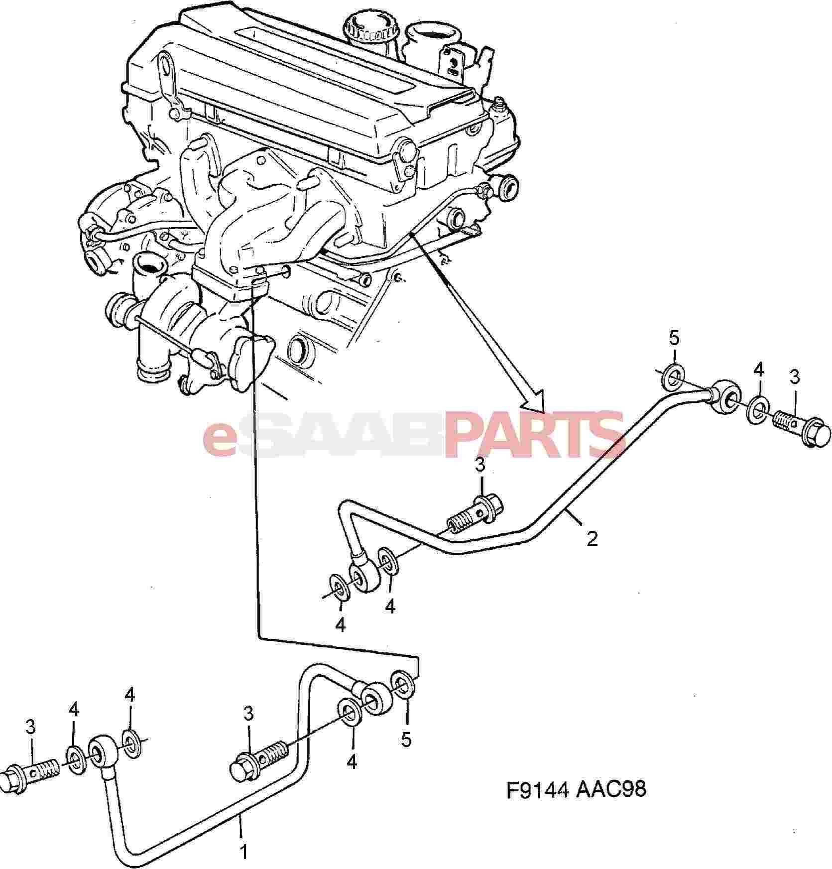 Saab 900 Parts Diagram