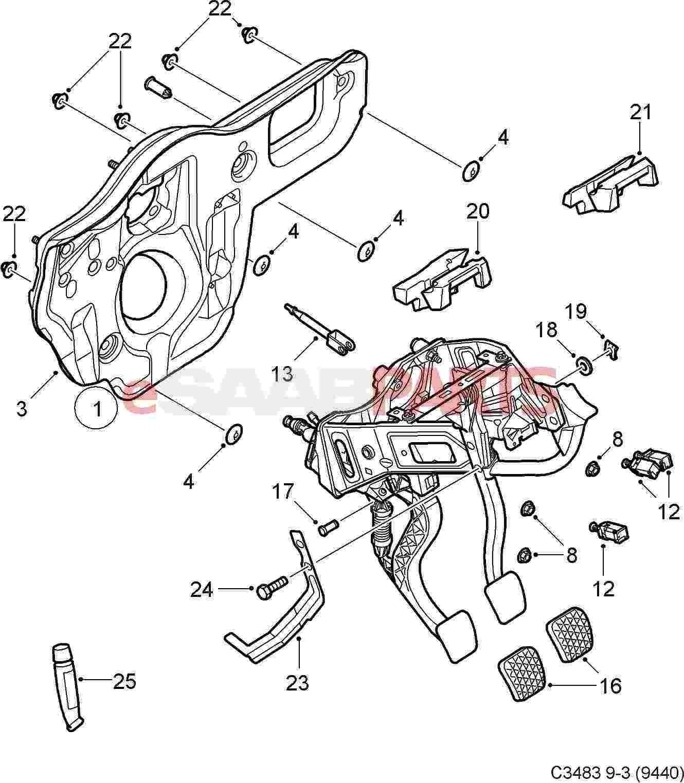 Saab Clutch Pedal Switch