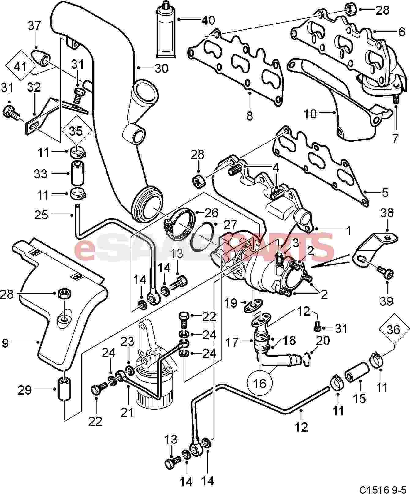 11082413 saab nut genuine saab parts from esaabparts rh esaabparts 2001 saab 9 3 vacuum system 2001 saab 9 3 vacuum system