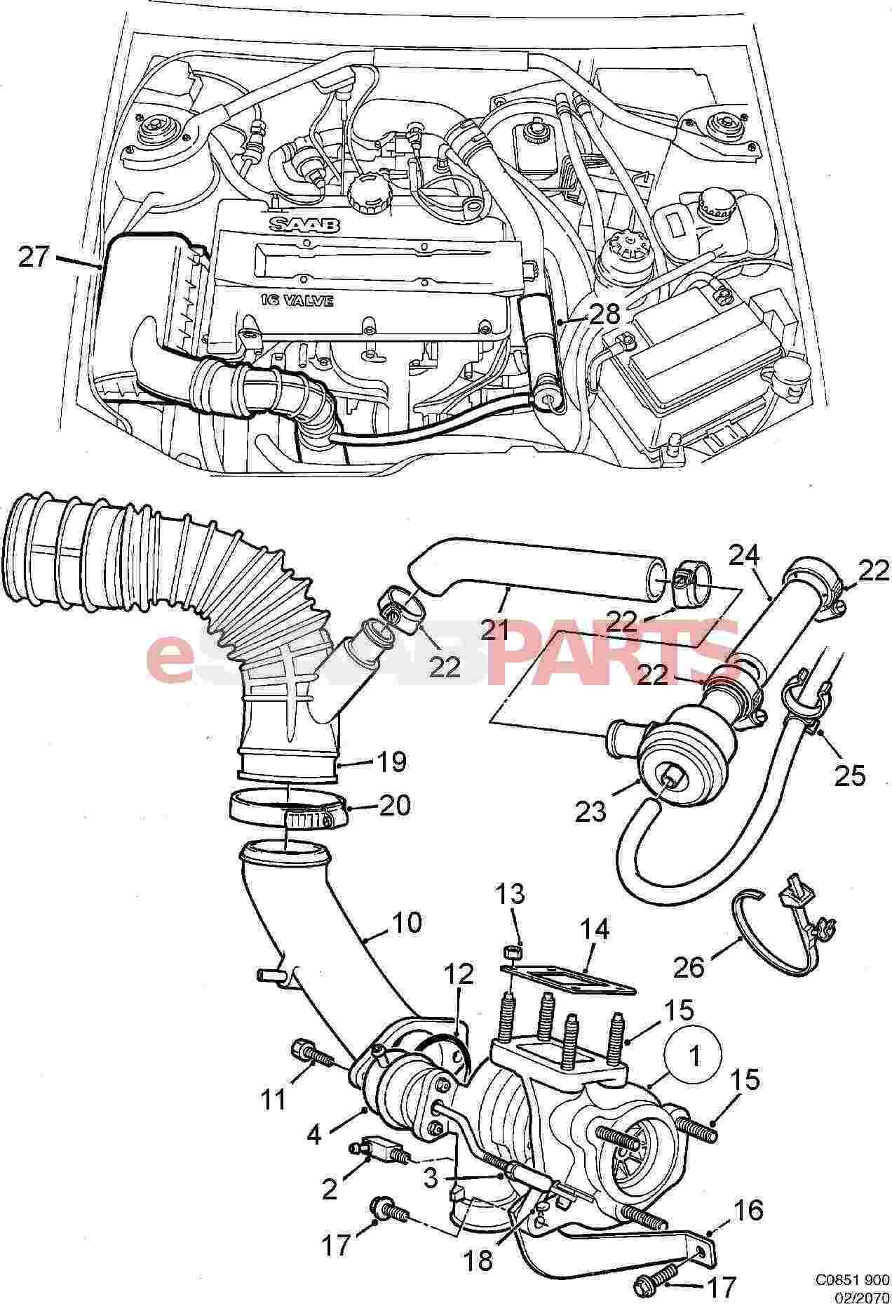 Saab Charge Air Bypass Valve