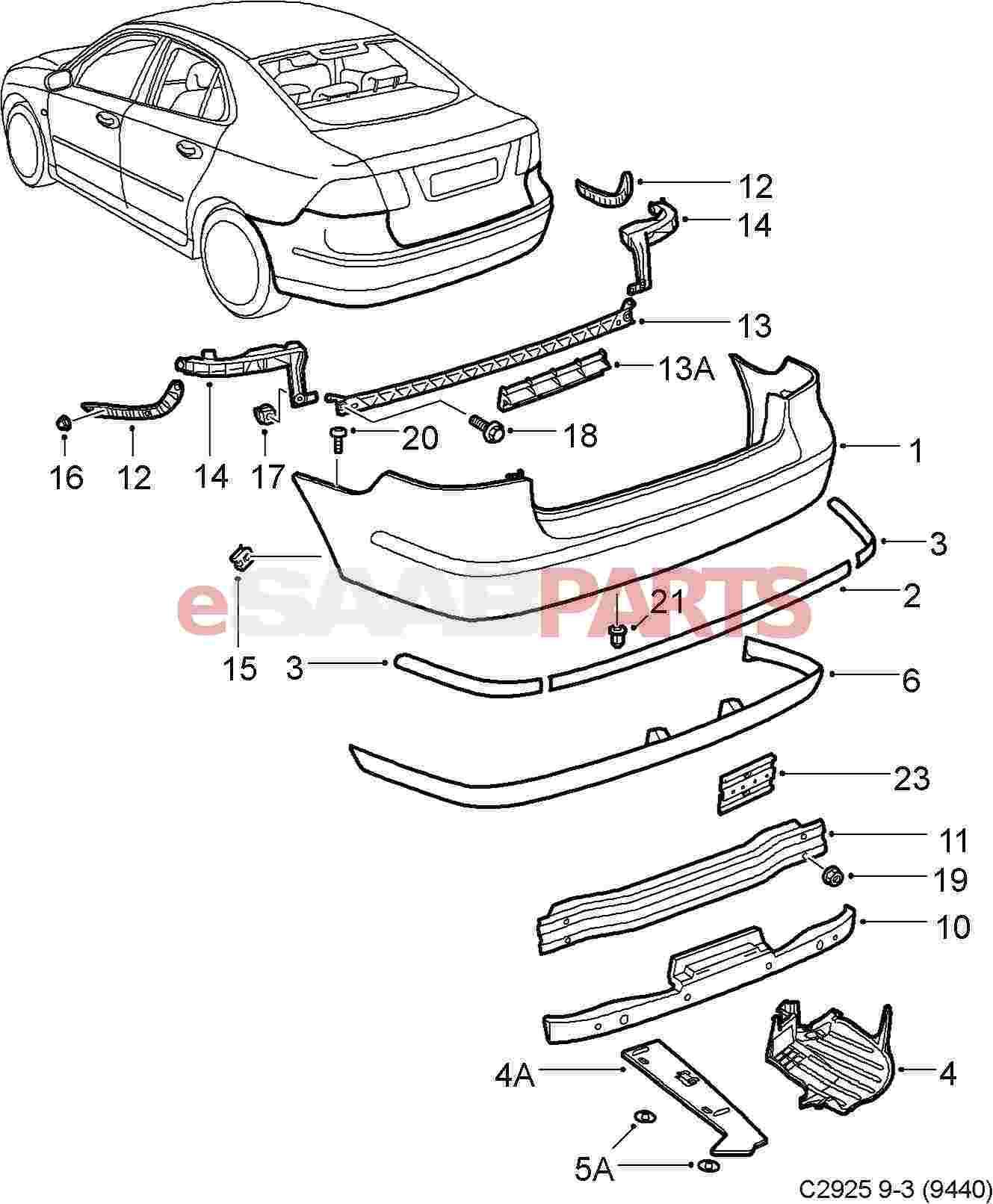 Saab Rear Diffuser Spoiler