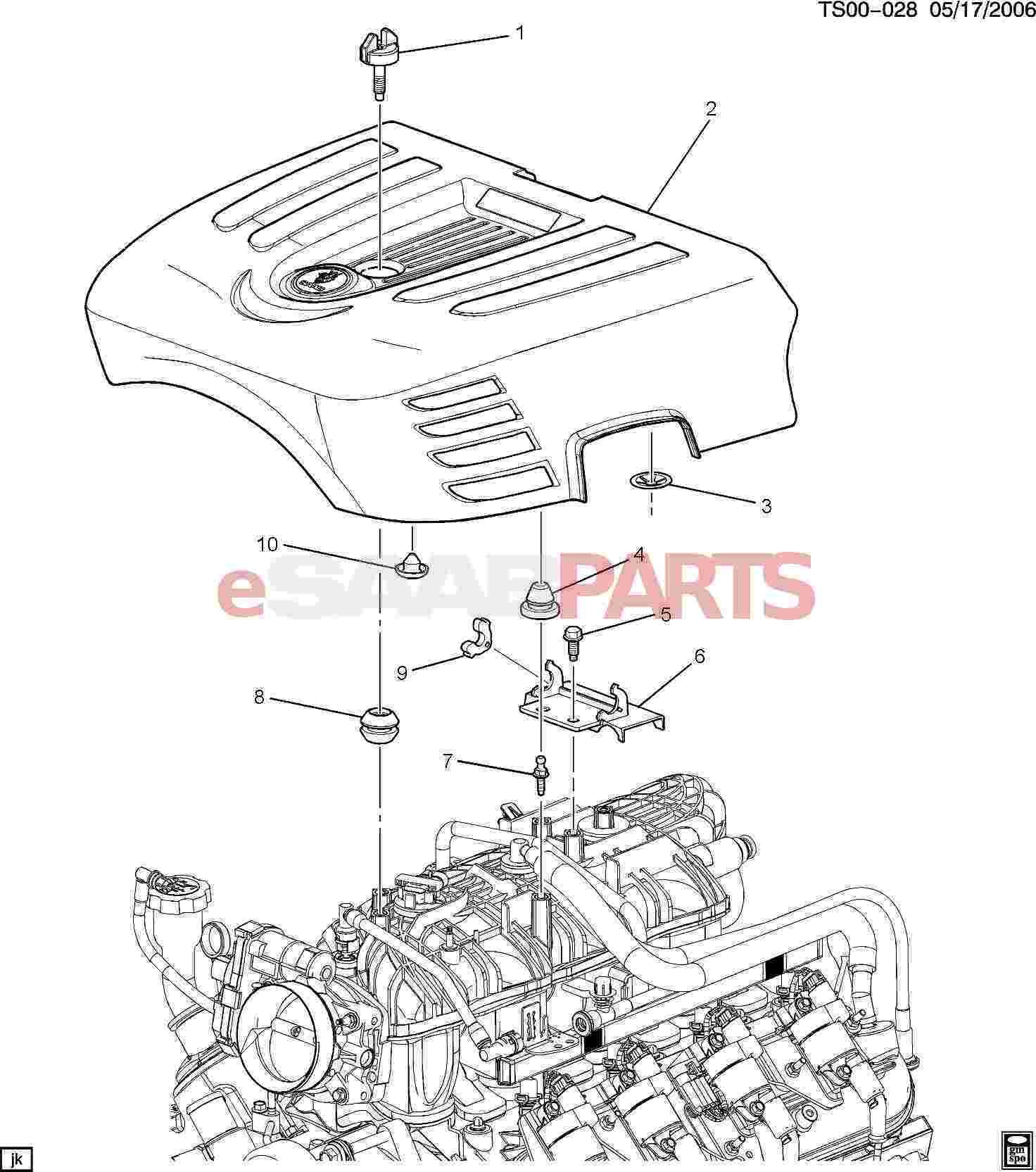 Saab Grommet Upper Intake Manifold Sight