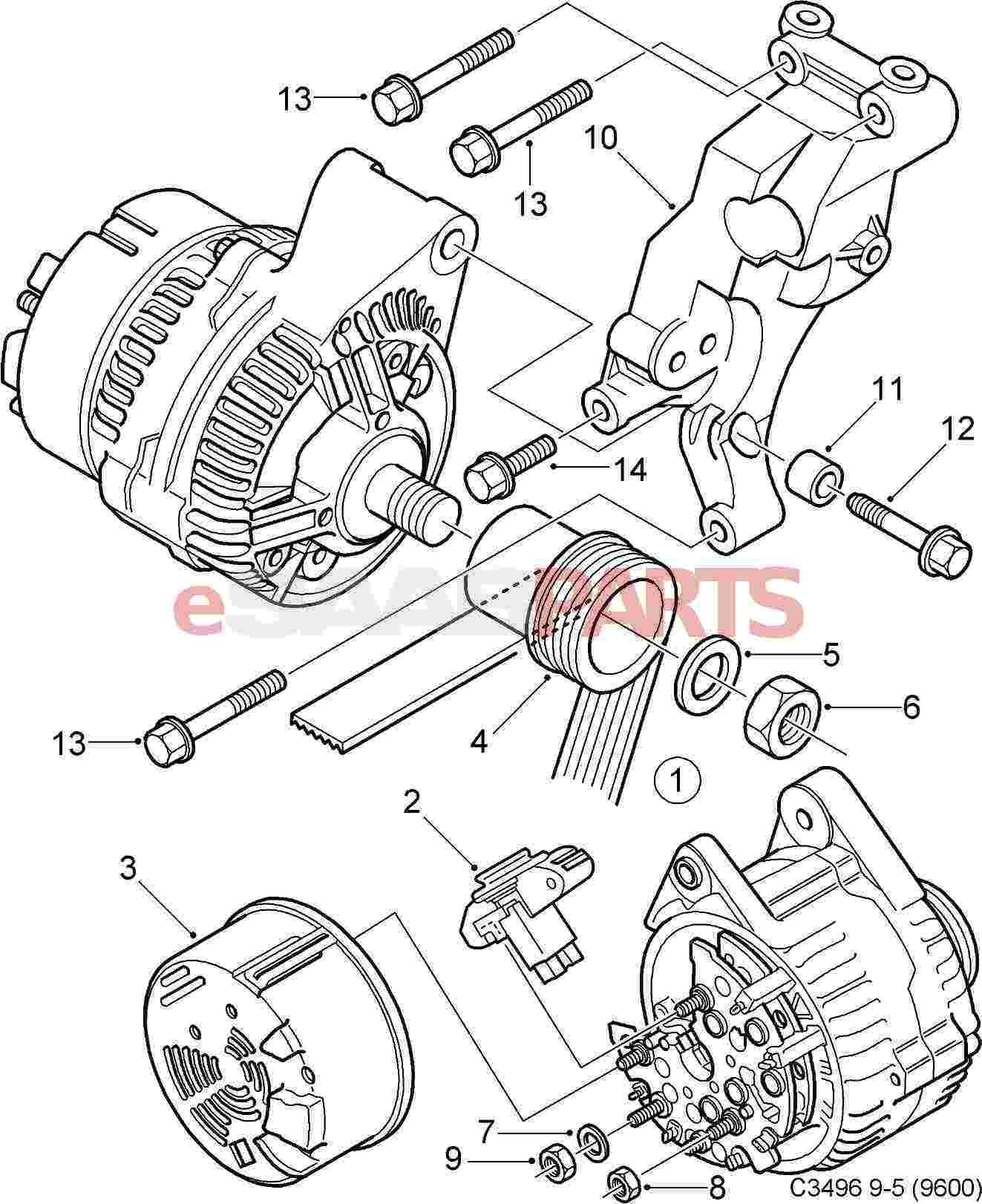 Saab Alternator 140a