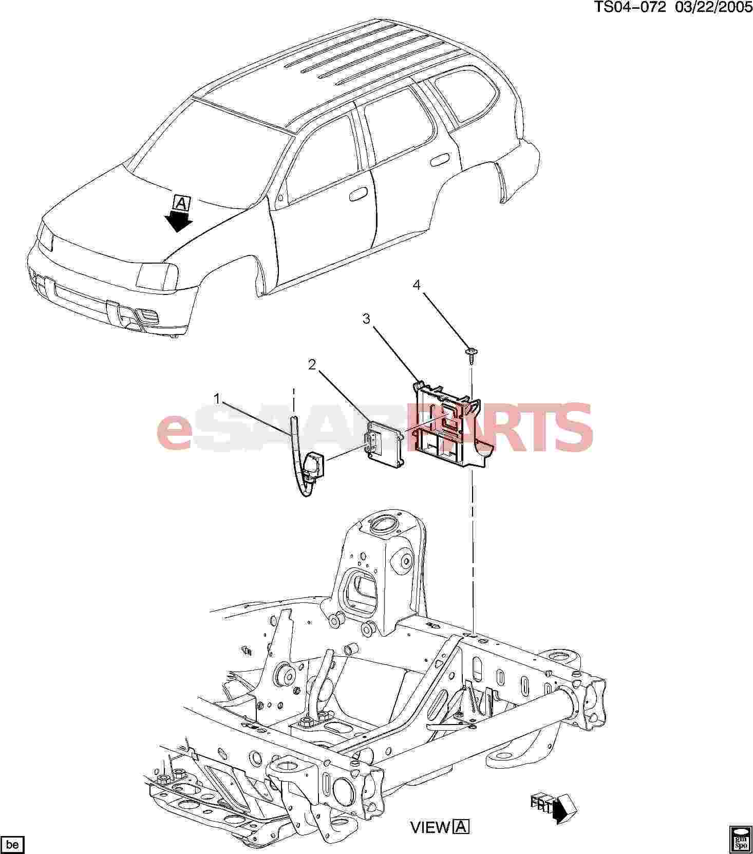 Saab Bracket Engine Control Module Electronic Control Module