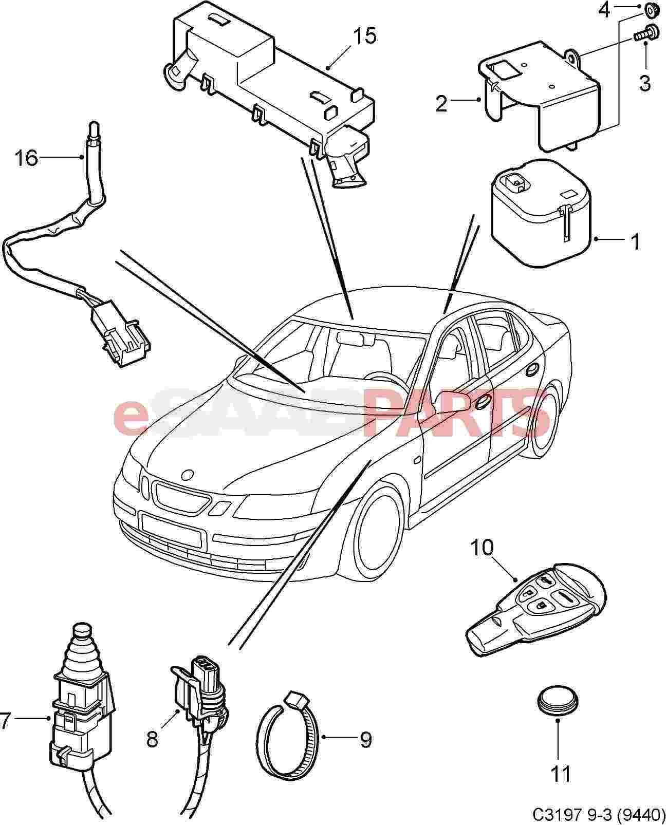 Saab 9 3 Steering Diagram