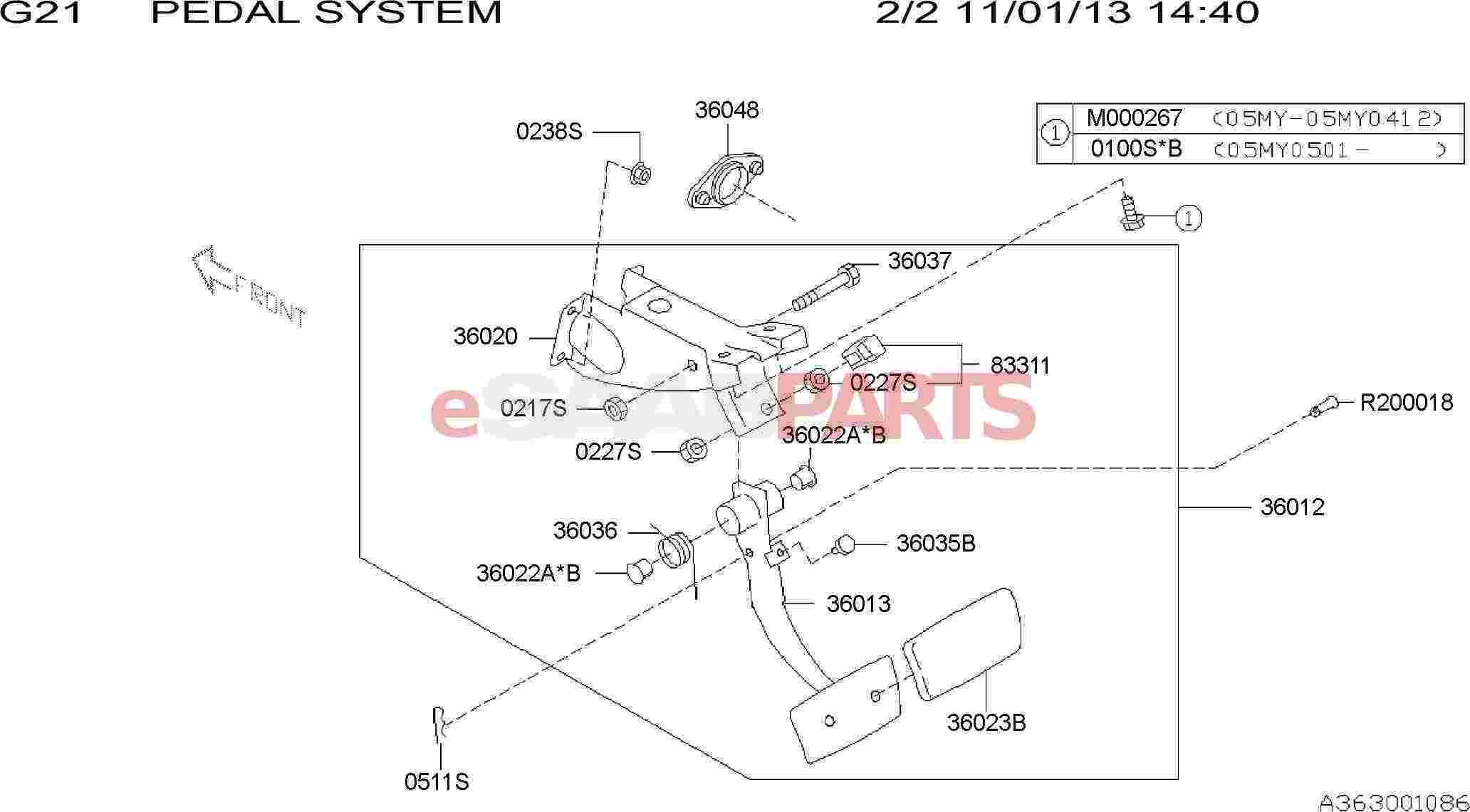 Saab Pedal Assembly Brake