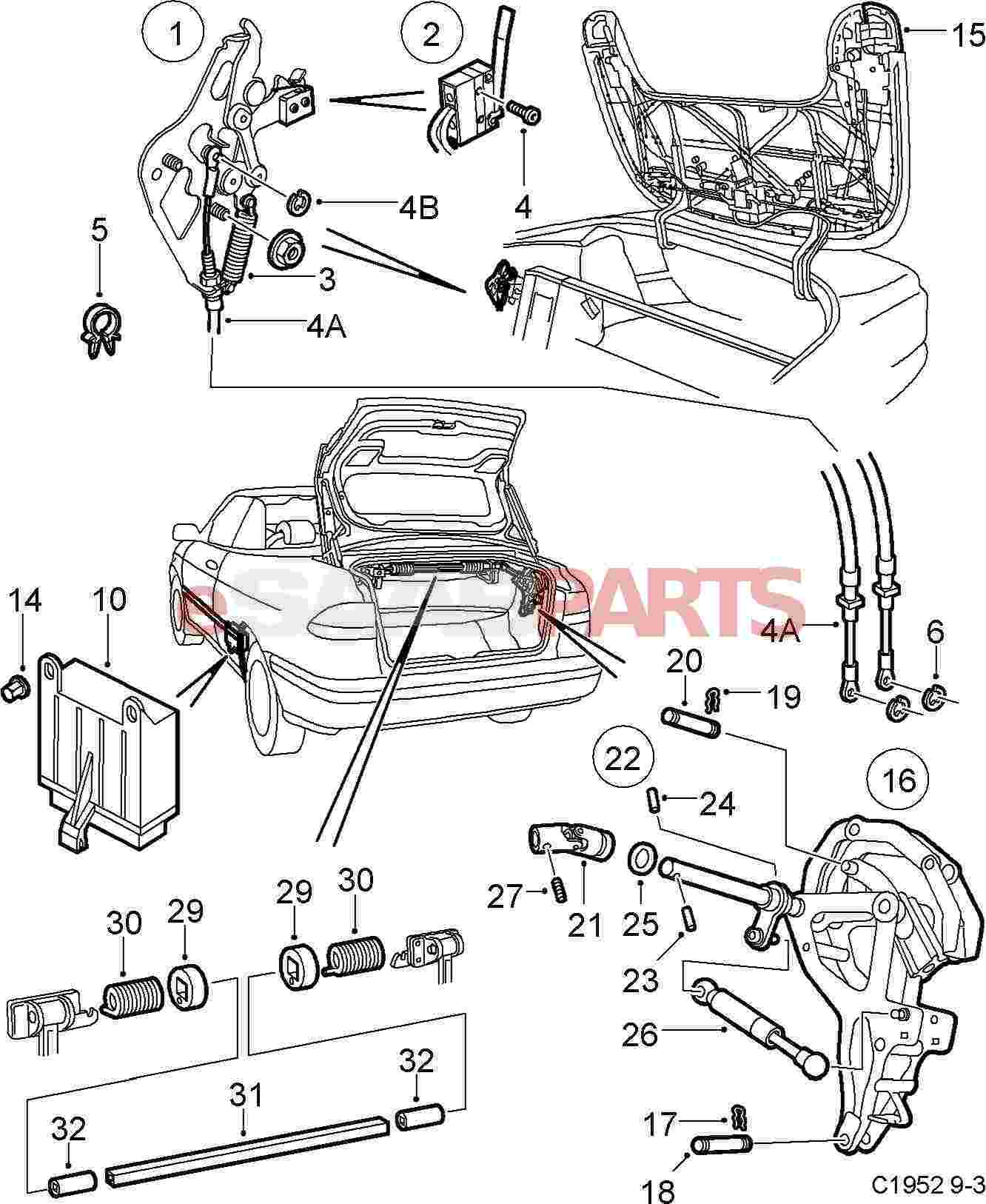 saab 900 parts diagram