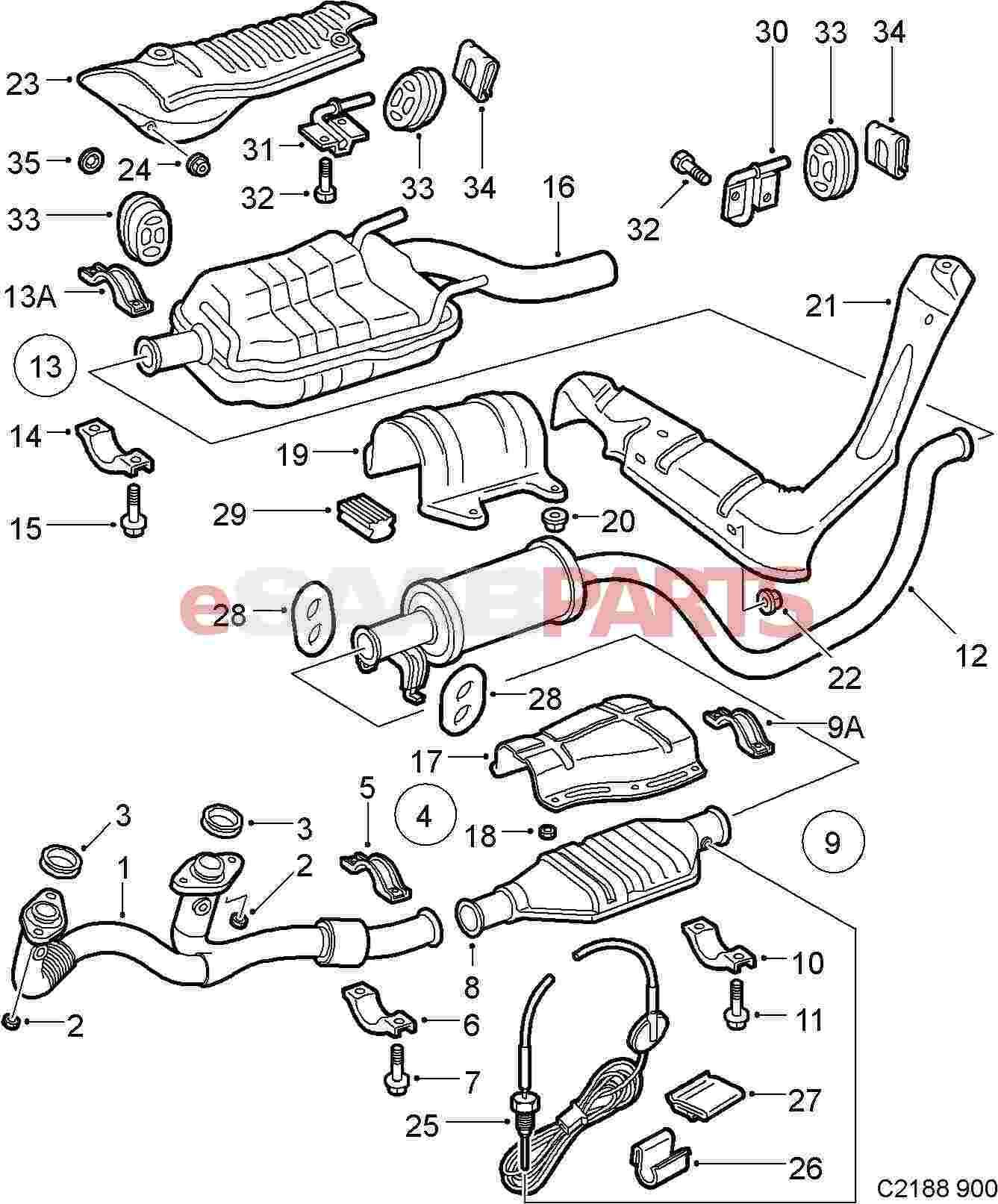 Saab Heat Shield
