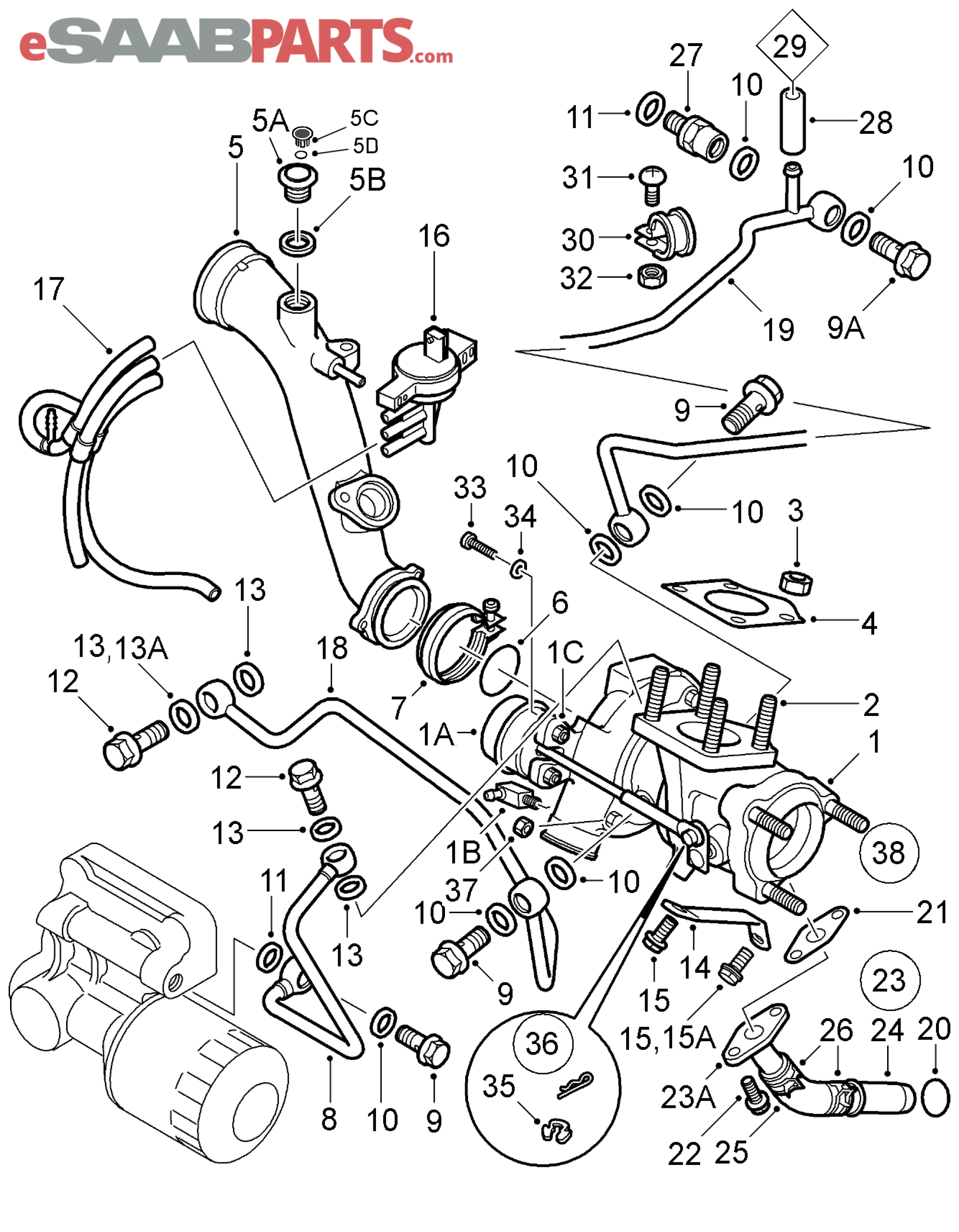 Saab 23 Engine Diagram