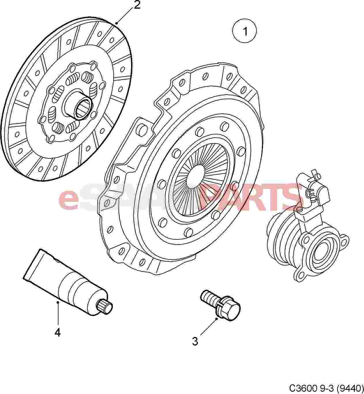 Saab Clutch Kit 9 3 Xwd 6 Speed 9 5ng