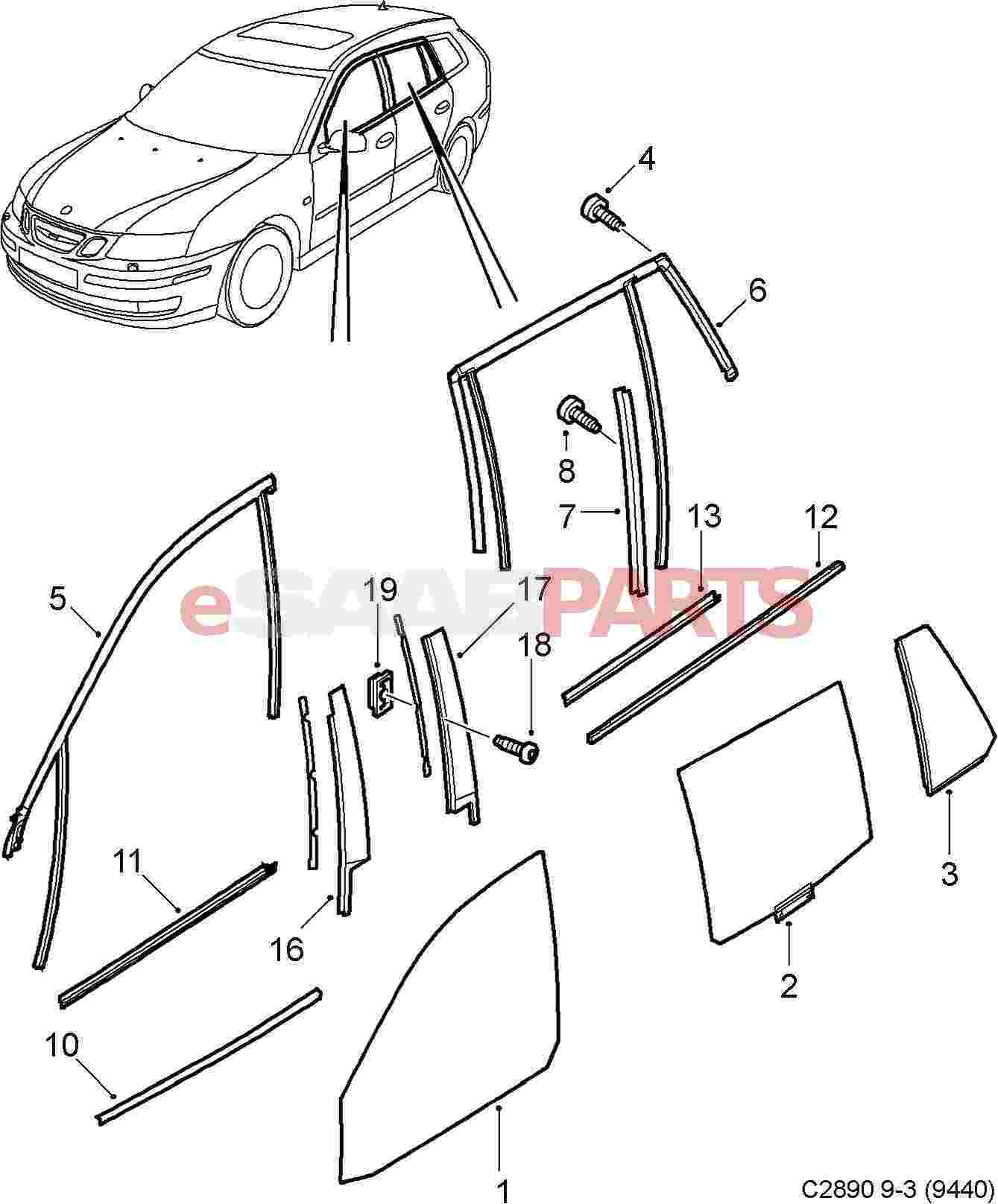 Parts Of A Car Window