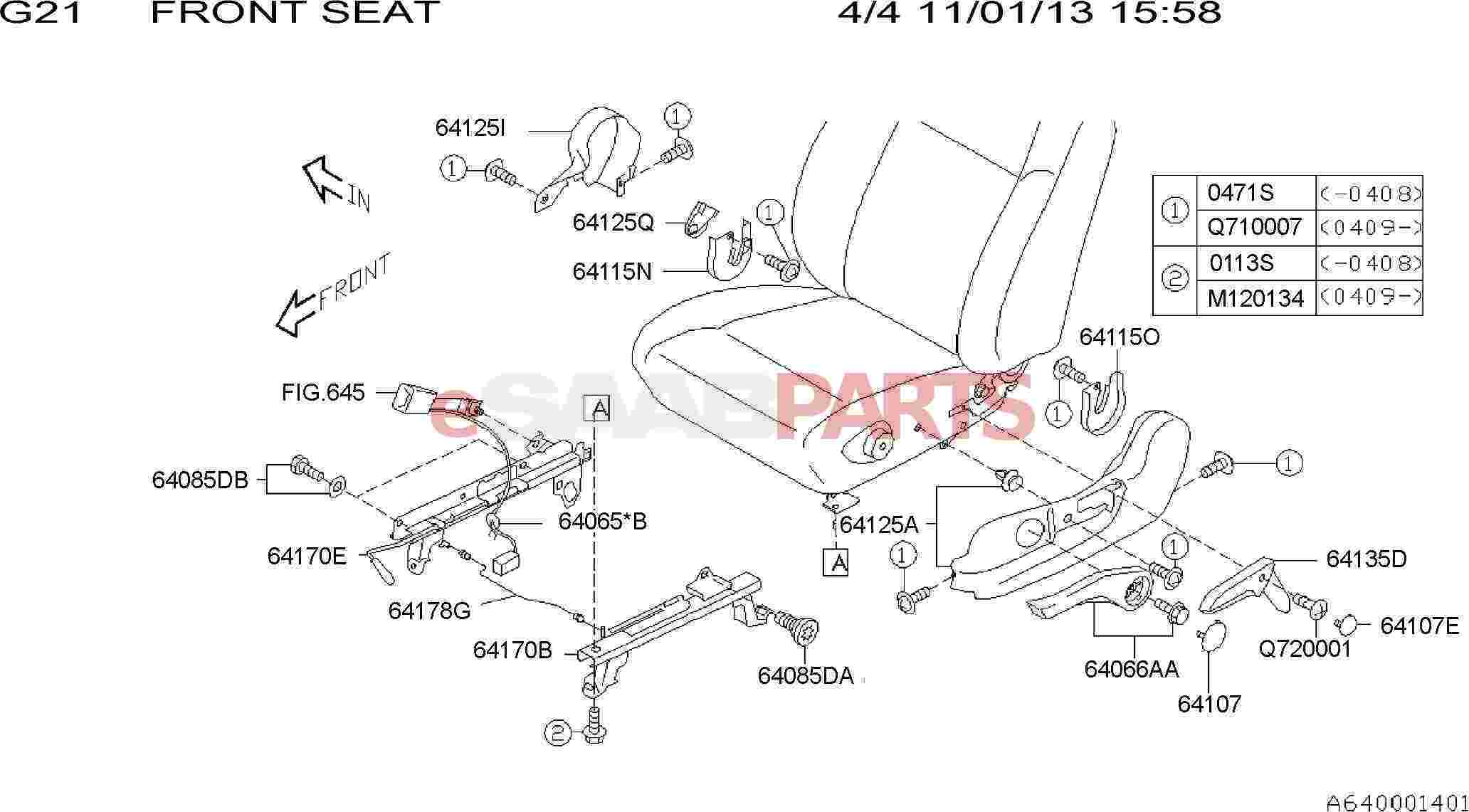 Saab Bolt And Washer Assembly