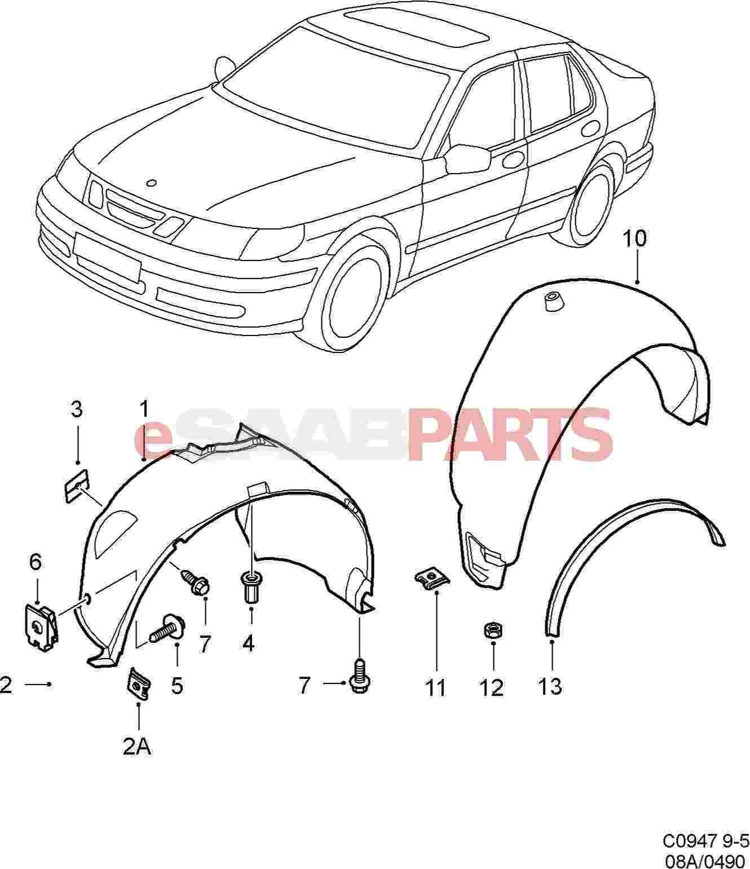 Saab Wheel Arch Liner