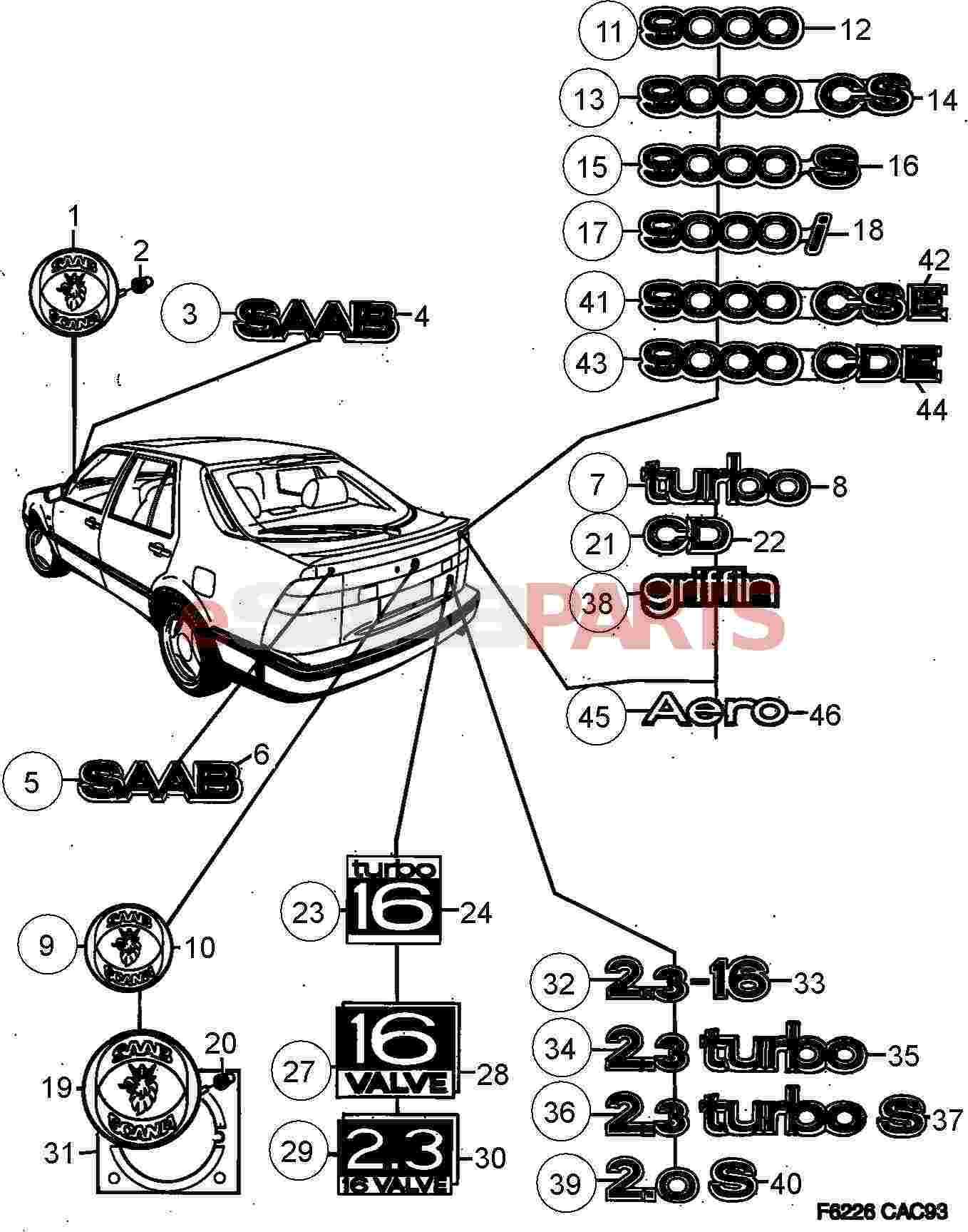 Saab Saab Scania Hood Emblem
