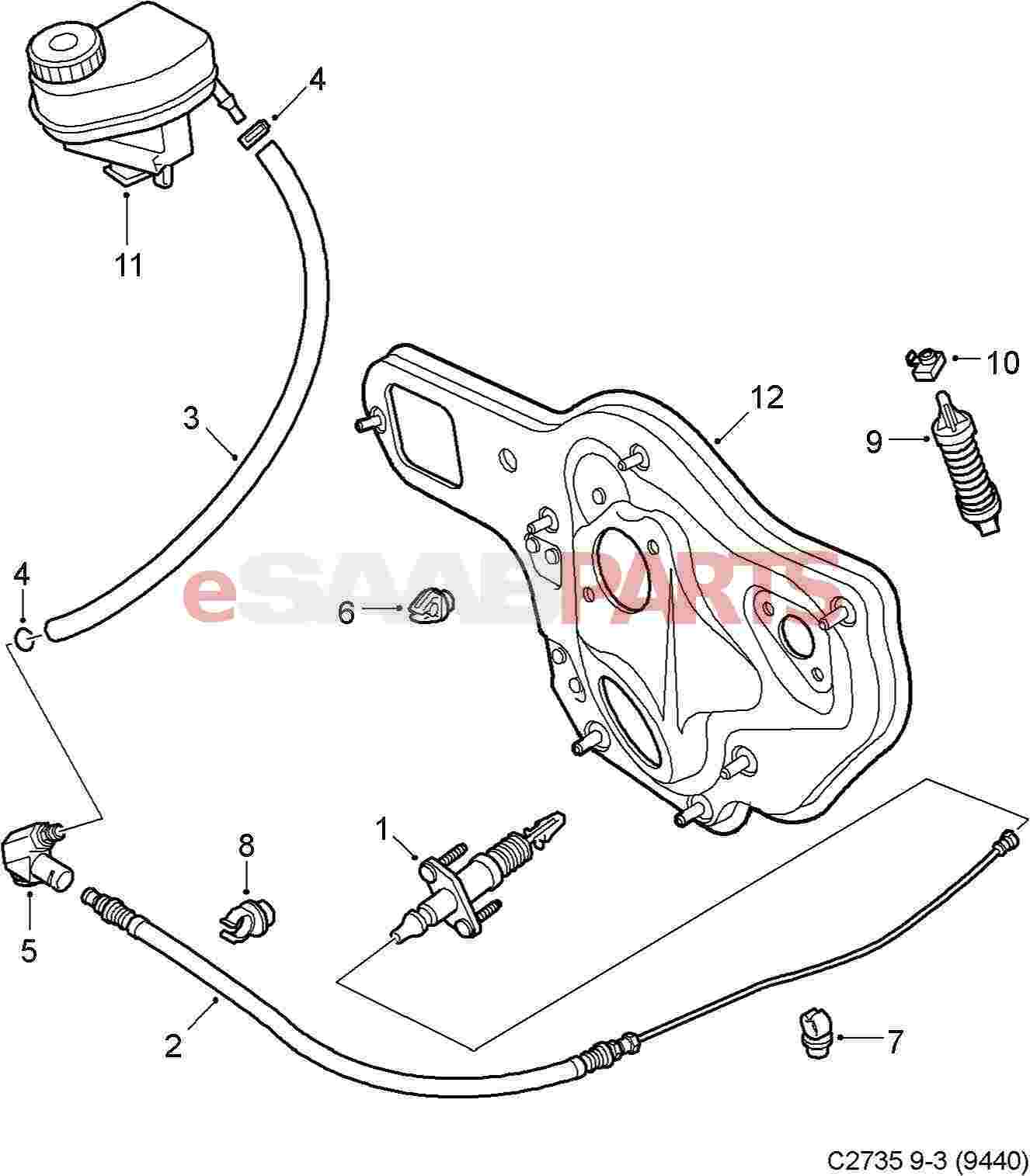 Saab Clip For Clutch Return Spring