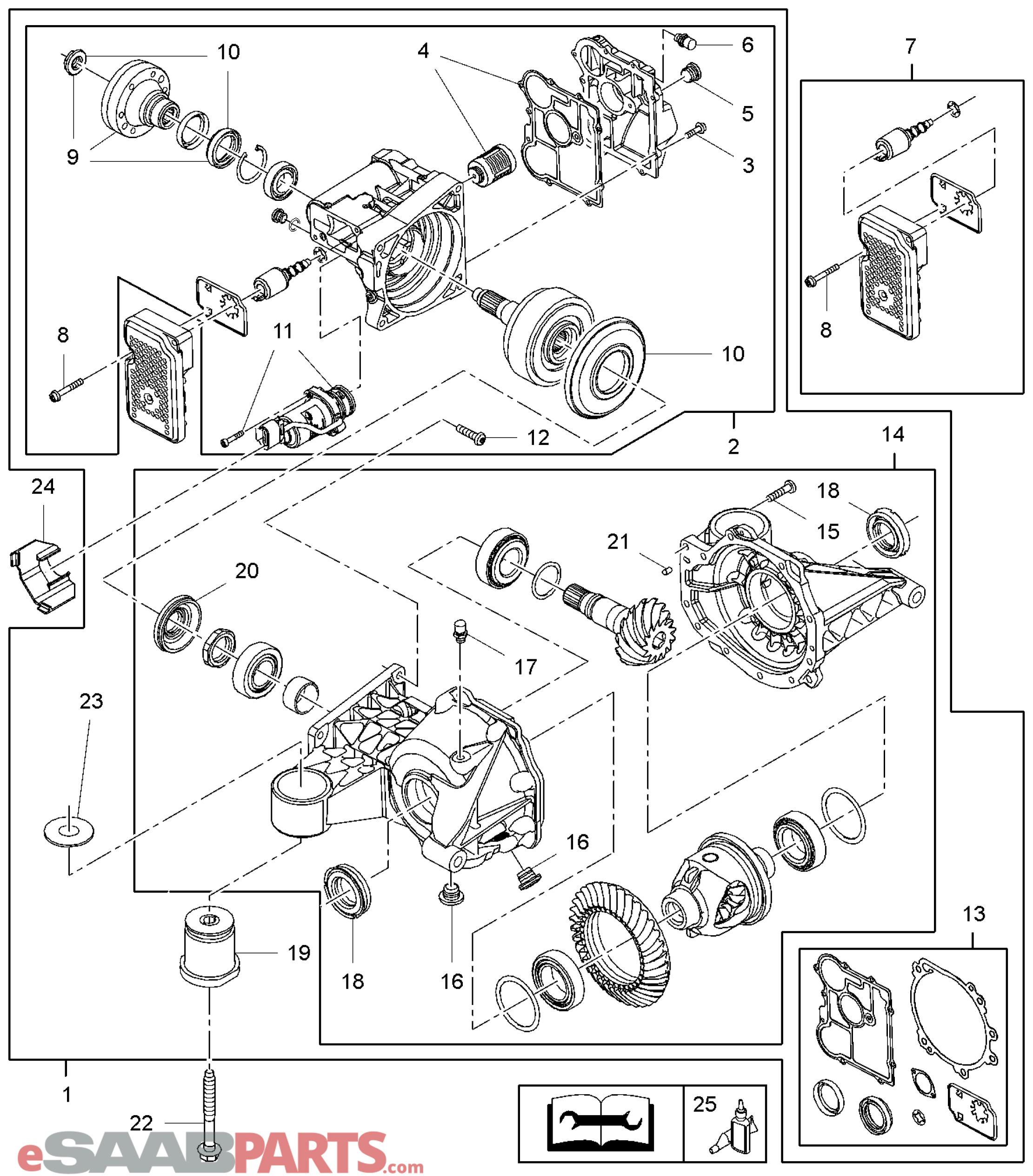 Saab Xwd Filter Amp Gasket Kit