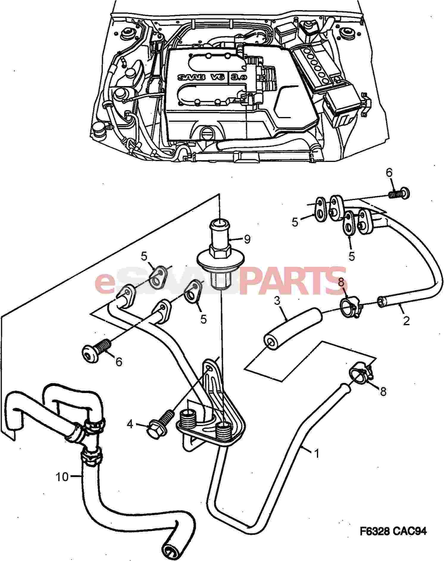 Saab Engine Diagram