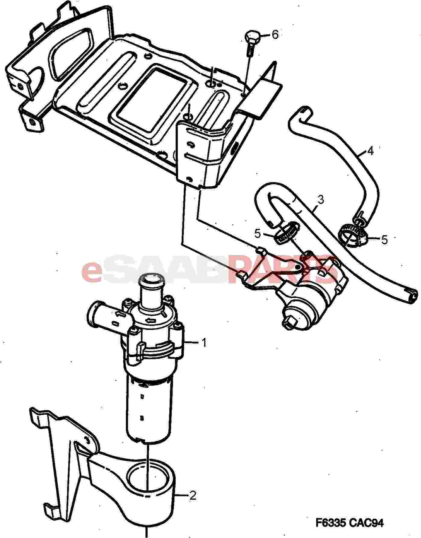 Saab Circulation Pump