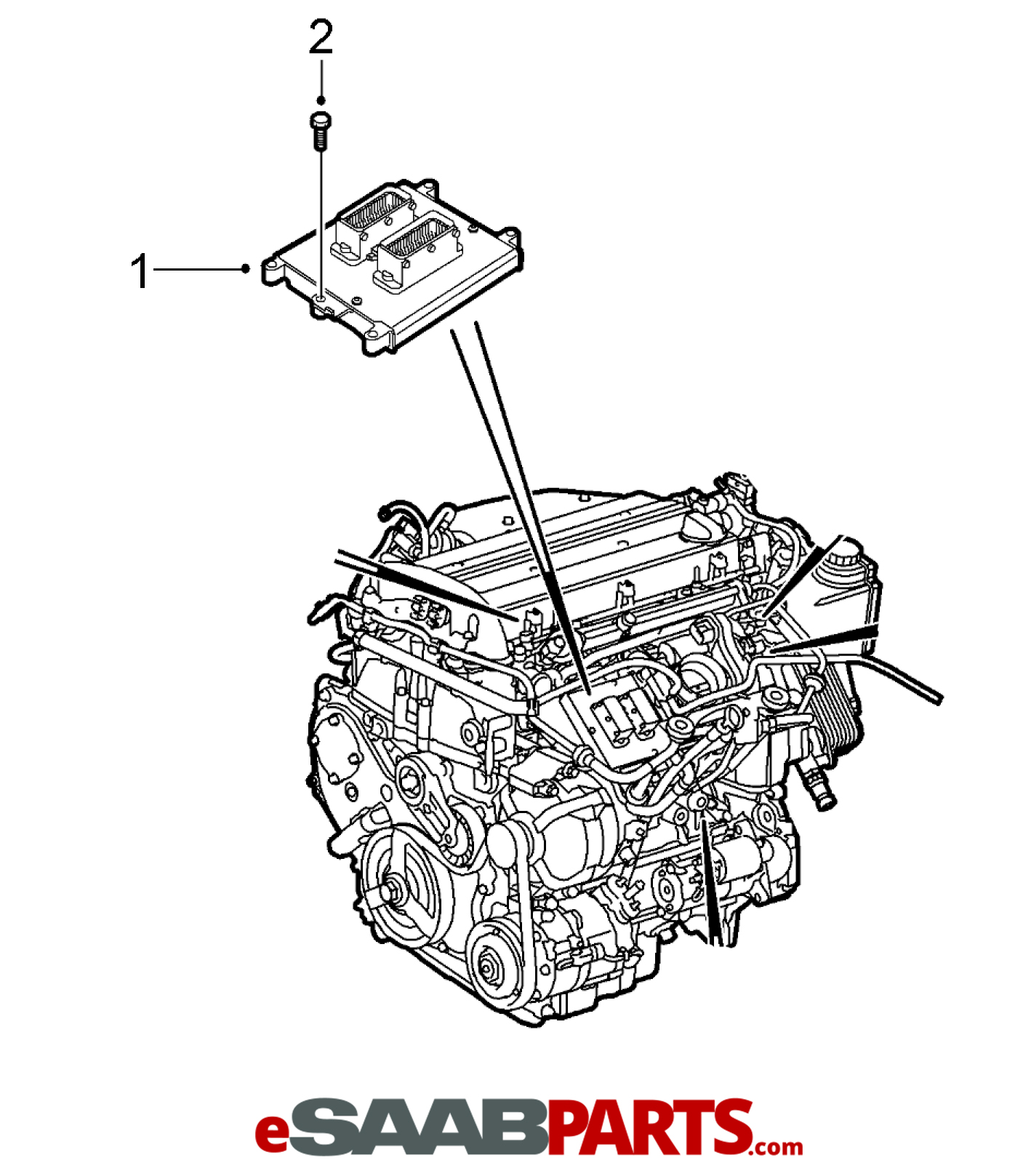 Saab Ecu Ecm Engine Computer