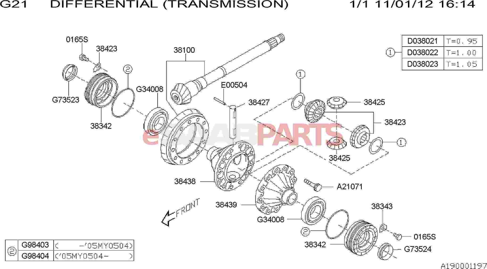 Saab Gear Set Hypoid