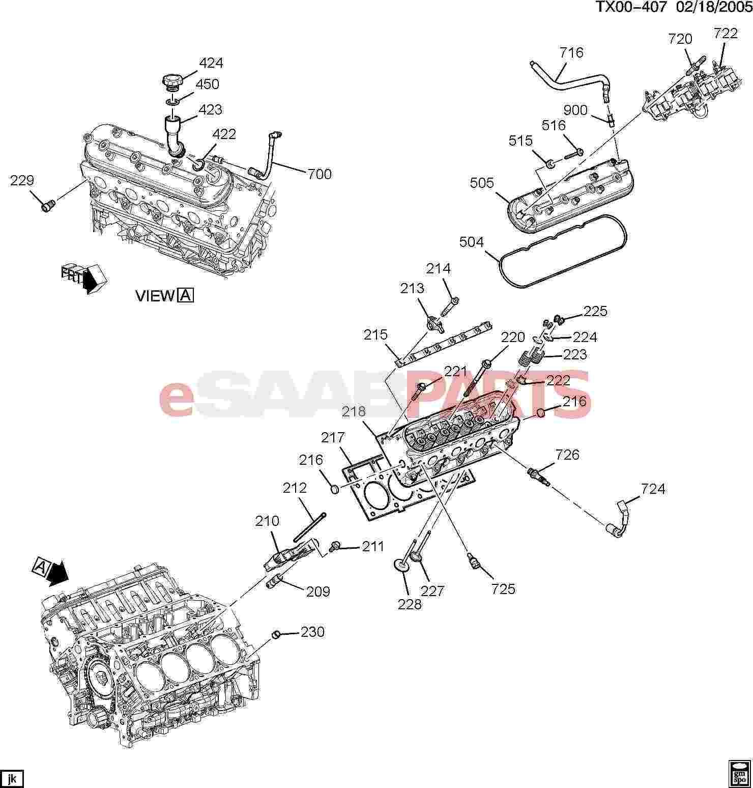 Saab Cover Vlv Rocker Arm