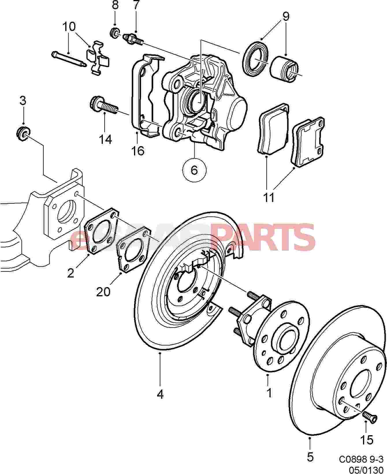 Saab Brake Pad Kit