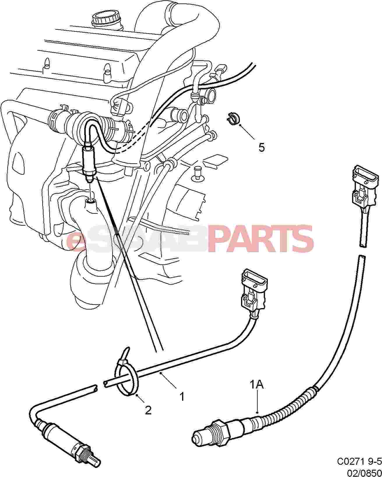 Saab Rear Heated Oxygen Sensor