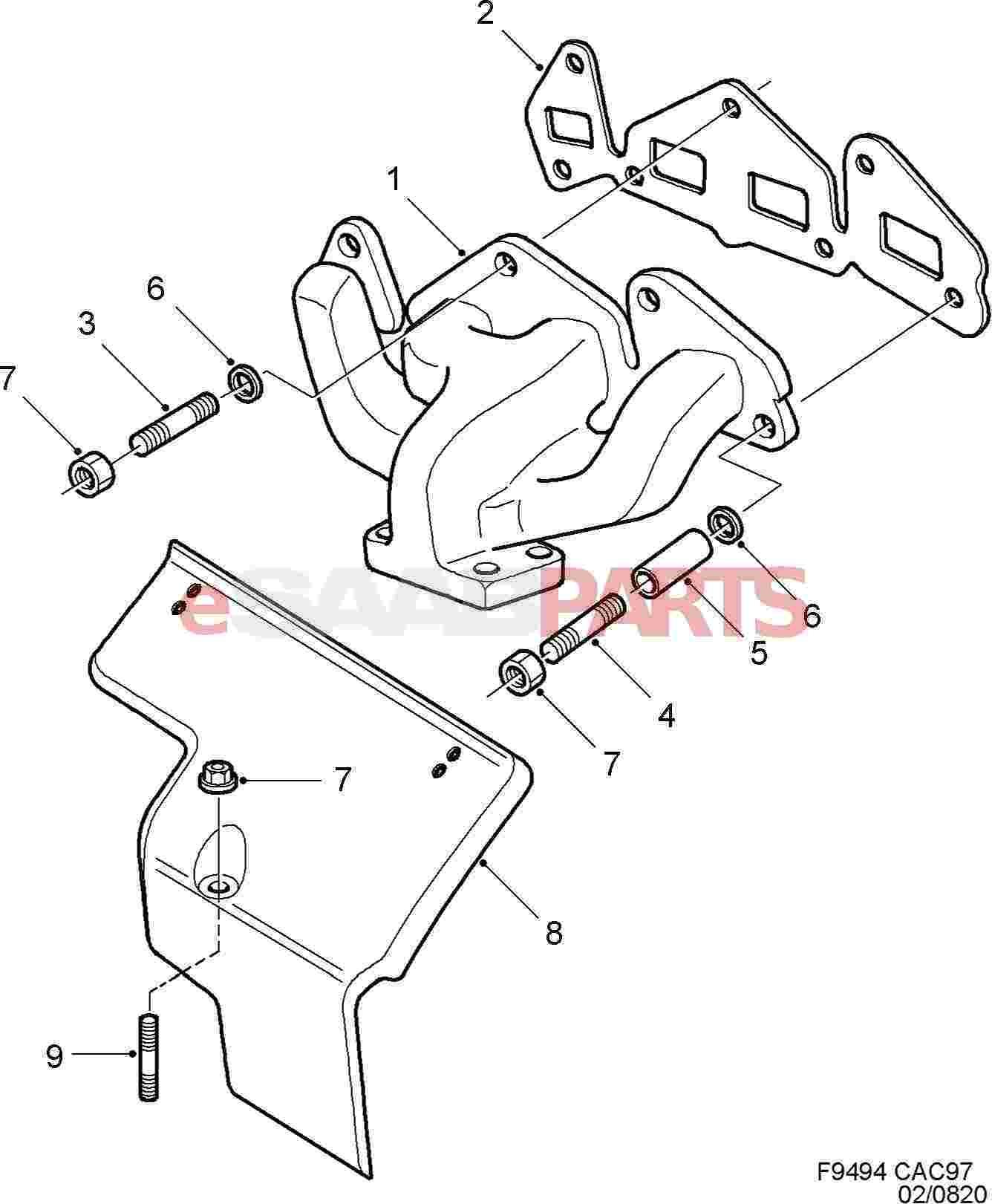 Saab Exhaust Manifold