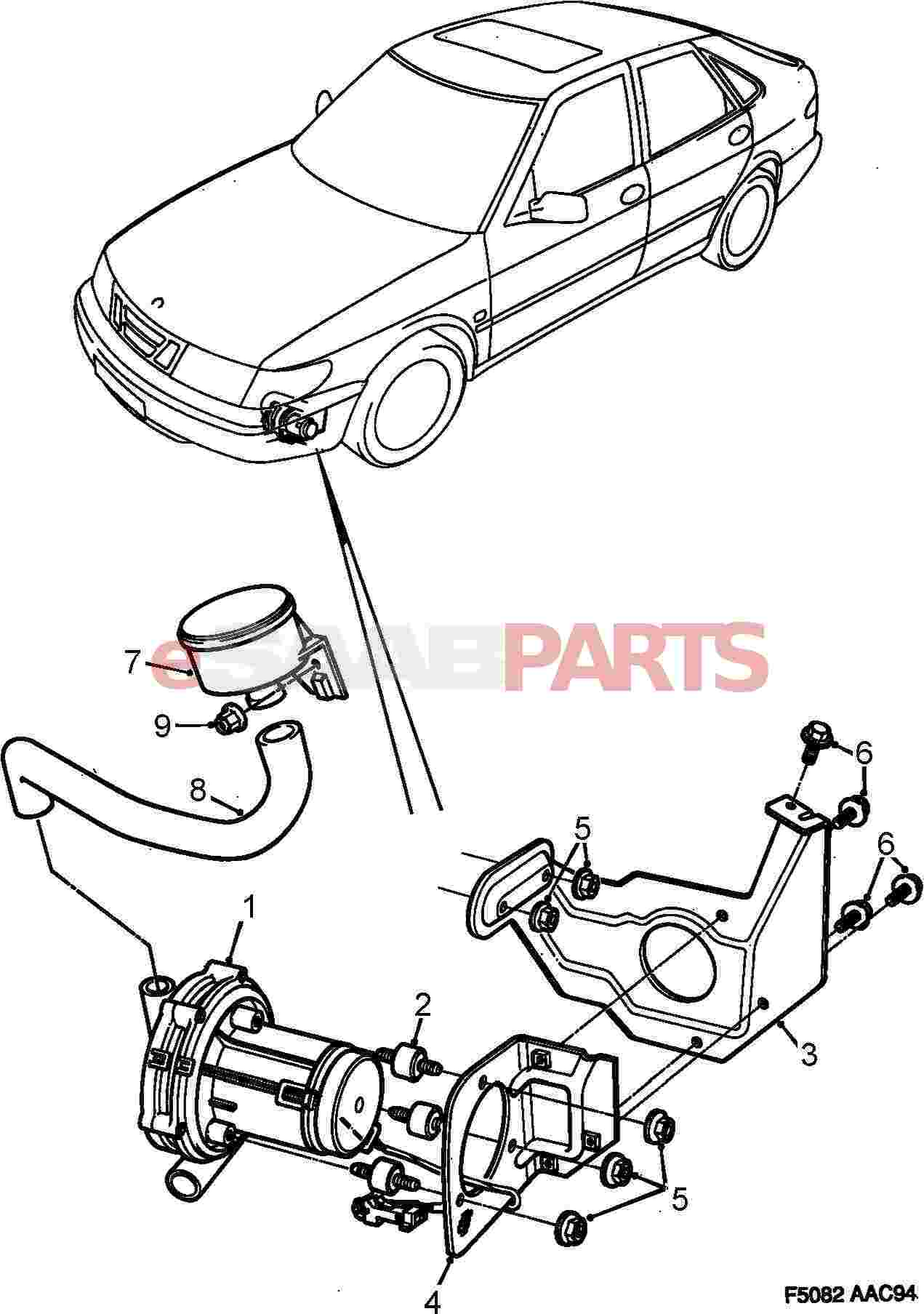 Saab Secondary Air Injection Pump