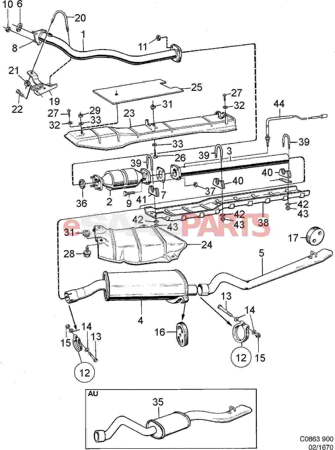 Saab Exhaust Pipe