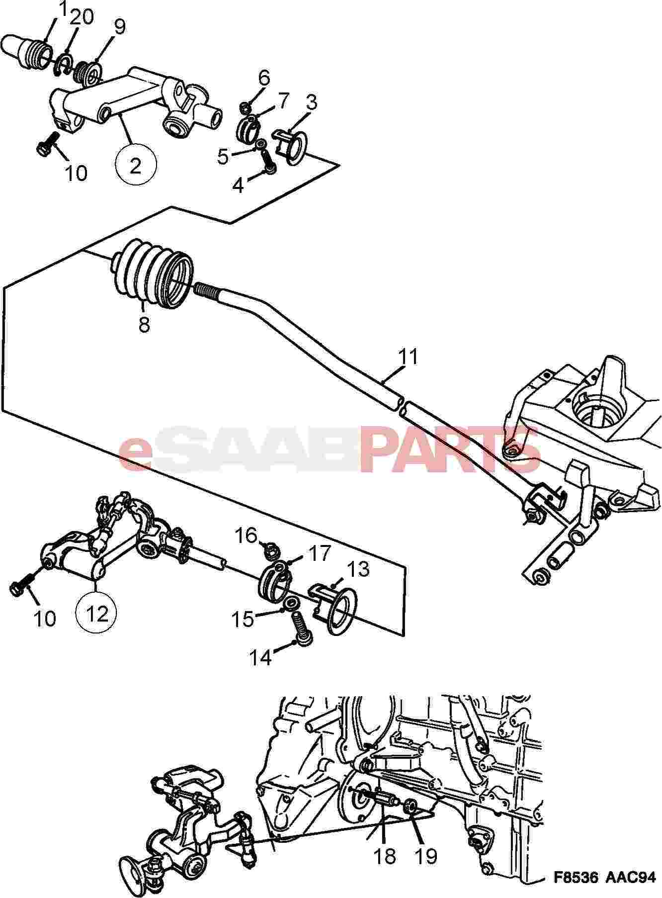 Saab Shifter Linkage