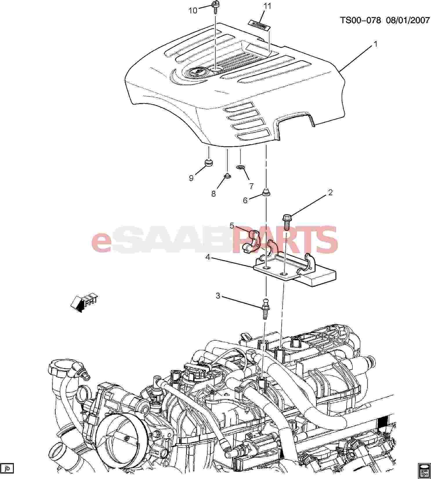 Saab Cover Intake Manifold