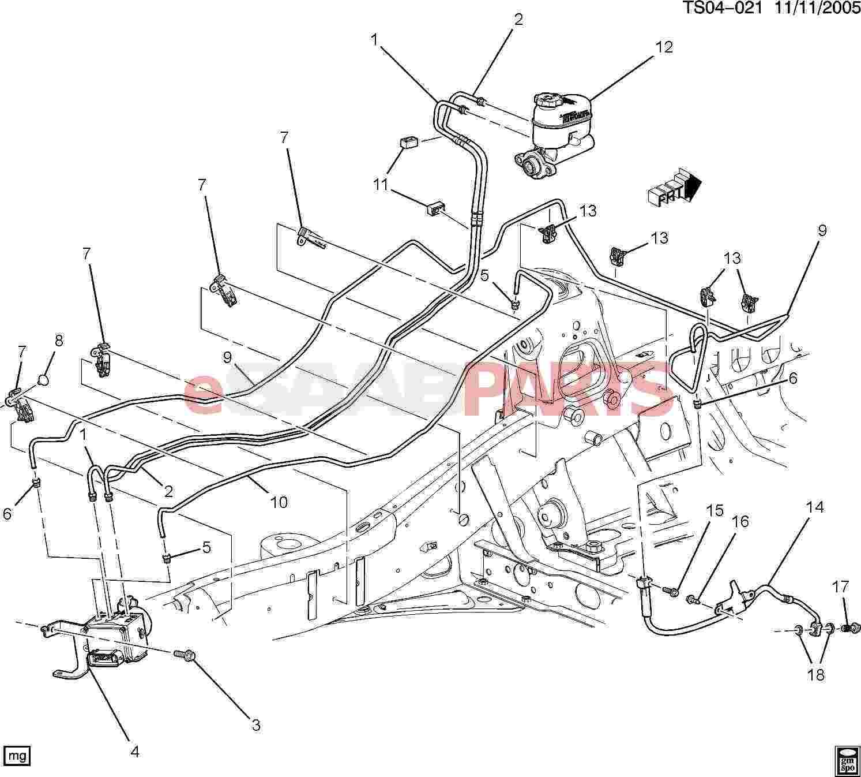 Saab Pipe Brk Press Mod Vlv M Cyl Rsvr