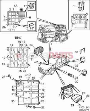 [90226846] SAAB Relay  Genuine Saab Parts from eSaabParts