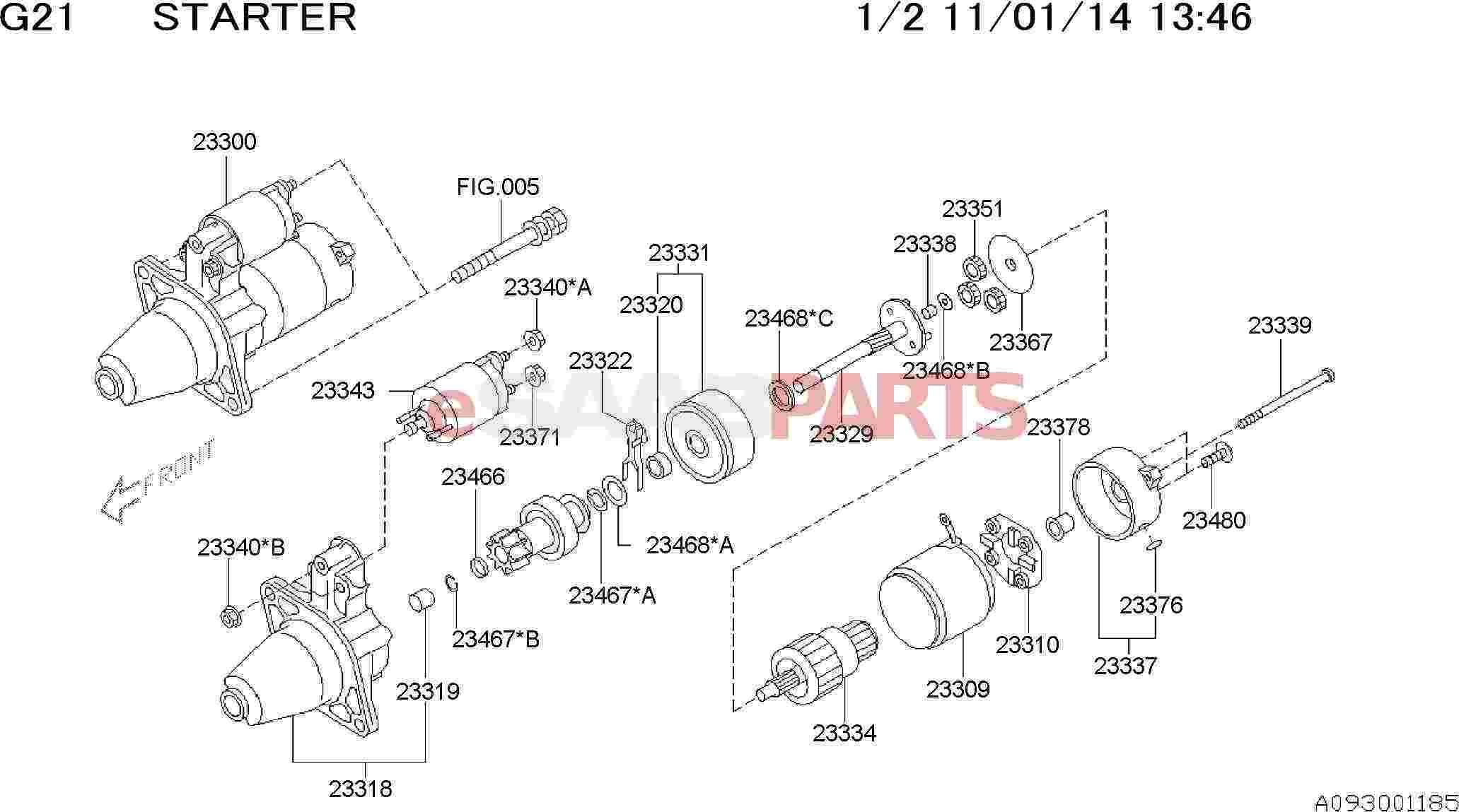Saab Radial Ball Bearing Starter