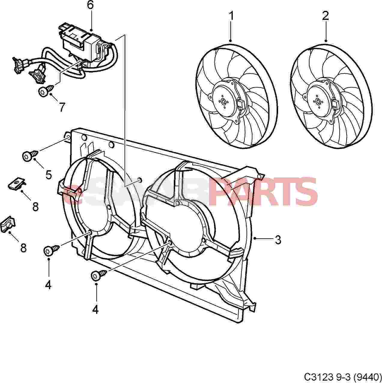Saab Fan Relay Box
